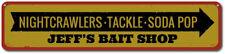Nightcrawlers Tackle Soda Pop Bait Shop Sign, Personalized Store ENSA1001128
