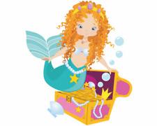 Meerjungfrau mit Schatz Aufkleber Sticker Autoaufkleber Scheibenaufkleber