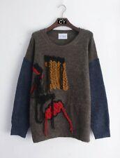 Tassel fringe cable design detail long tunic knitted jumper wool blend