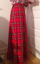 Tartan Plaid Royal Stewart A-line 6 panels Skirt ladies, 90 cm length sizes 4-30