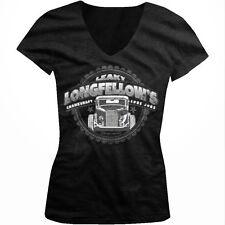 Leaky Longfellows Crankshaft Lube Jobs Hot Rod Crude Joke Juniors V-Neck T-Shirt