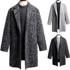 Mens Luxury Dandy Modern Over Fit Tweed Coat Blazer Basic Jacket Jumper Top T035