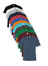 Tinta Unita,da Uomo Medium Estivo Peso V Scollo a Maglietta in Cotone T-Shirt