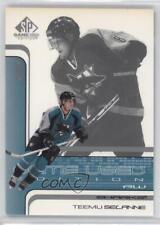 2001-02 SP Game Used Edition #46 Teemu Selanne San Jose Sharks Hockey Card