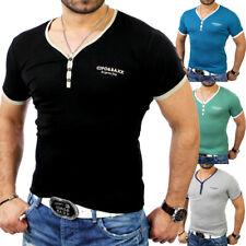 Cipo & Baxx C-5335 Herren V-Neck Basic Kontrast T-Shirt Party Hemd Sweatshirt