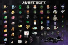 Minecraft pixel Sprites Poster 61x91.5cm