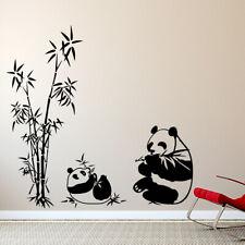 Wandtattoo Wandsticker Wandaufkleber Bad Panda Bär Schilf Bambus Pflanze W1371