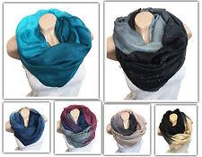 Fashion Loop Design Desarrollo Color Bufanda Tubo Chal Redondo Estilo Brillo