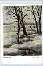 Mundmalerei R. Hext Verschneite Fluren Künstlerkarte AK