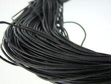 Lederschnur (ab 0,34€/m) Rund 1,5 mm. Schwarz Lederband. Länge: wählbar