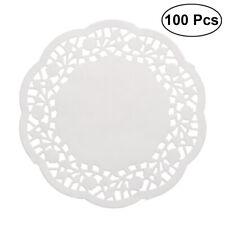 100pcs jetable huile-absorbant dentelle blanche papier napperons gâteau