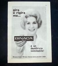 A046-Advertising Pubblicità-1960-BINACA BIANCO - DENTIFRICIO