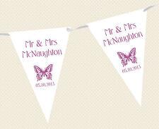 mariage personnalisé BRUANT - Bannière - Motif Papillon choix parmi DRAPEAU