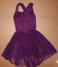 NWOT Burgundy Skate Lyrical Dress Mesh skirt  CrissCross child/adult sizes