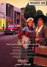 1986 GMC Safari Van Truck - red -  Classic Vintage Advertisement Ad D07