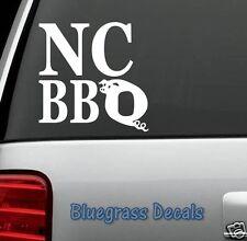 C1015 NC BBQ NORTH CAROLINA DECAL Sticker Car TRUCK SUV Van RIBS SMOKER GRILL