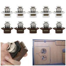 5Pcs Push Button Drawer Cupboard Door Catch Lock Caravan Rv Cabinet Latch Knob