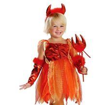 Girls Cute LIL DEVIL Halloween Devil Fairy Fancy Dress Costume Party Kids Outfit