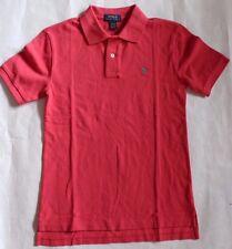 New Polo Ralph Lauren Boy's Shirt Short Sleeve Collared Sunset Red Top L XL