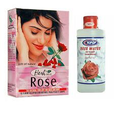 Natural Herbal Rose Petal Powder 50g or Water 600ml for Face Hair Skin Mud Pack