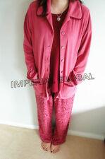 (3pc) Soft Floral T-shirt Jacket and Long Pant Pajama House Wear Nightwear Set