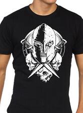 Warrior Skull T-Shirt Mens S-2XL goth rock punk skulls swords skeleton fighter