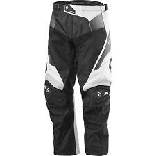 Scott Pantalones descenso Carreras Con Out Almohadilla Negro / blanco/PLATA