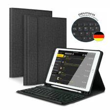 DEUTSCHE Tastatur für iPad 2018/2017 Air 1/Air 2 QWERTZ Bluetooth Tastatur Case