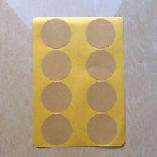 Blank Kraft Round Circle Stickers | 40mm | BL040