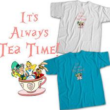 Alice Wonderland Teacup Mad Hatter Tea Party Mens Womens Kids Unisex Tee T-Shirt