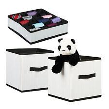 3 teiliges Aufbewahrungsset weiß, aus Bambus, Faltbox groß, Krawattenbox, Reise