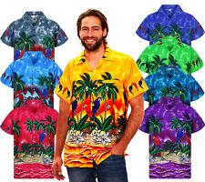 Funky Hawaiihemd Shirt Herren Parrot Kurzarm Brusttasche Hawaiianshirt