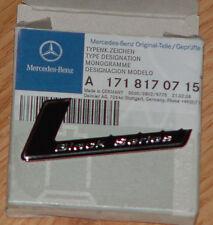 Mercedes Benz OEM Genuine BLACK SERIES Badge R230 SL Class R171 SLK Class