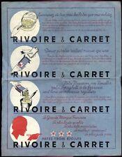 AFFICHETTE PUBLICITAIRE - PÂTES RIVOIRE & CARRET