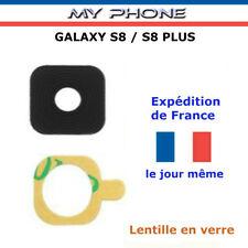 Vitre Caméra Samsung GALAXY S8 / S8 PLUS NOIR Lentille verre Arrière