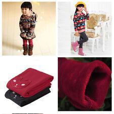 Kid Girl Cartoon Winter Warm Thermal Pants Cotton Full Length Leggings Trousers