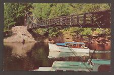 POSTCARD:  SUSPENSION BRIDGE,  BLACK RIVER PARK, MI