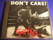 Don't Care! Get this SUCKER RECORDS CD 1993 RAR!