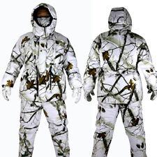Cotton Winter Waterproof  Snow Camo Jacket Pants Bionic Camouflage Ghillie suit
