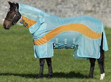 """Horseware Amigo EVOLUTION DISC Colour Insect Bug Fly Rug Aqua/Orange 5'0""""-7'3"""""""