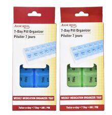 Assured Twice 7 Day Plastic Pill Organizers