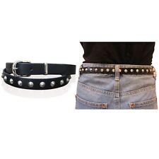 """Cinturones de cuero señoras para mujer Spike Biker 1"""" de ancho Punk Real Cinturón Hecho en Inglaterra"""