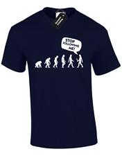 Smetti di SEGUIRMI Da Uomo T Shirt Divertente evoluzione Design Nuovo Big Taglie S - 5XL