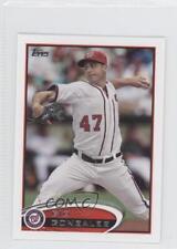 2012 Topps Mini #519 Gio Gonzalez Washington Nationals Baseball Card