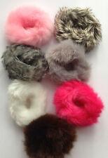 Fluffy Faux Fur Furry Scrunchies Hair Elastic 6 cm