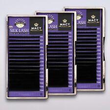Wimpernverlängerung Set 3x Einzelwimpern Silk Lashes Seidenwimpern B C D Macy