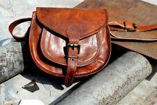 Women Handbag Genuine Leather Crossbody bag Handmade Brown Small Shoulder Purse