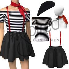 WOMEN'S MIME Artist Costume Black Skirt SEQUIN BRACES French Circus FANCY DRESS