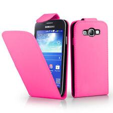Piel Artificial Funda Protectora de Móvil con Tapa para Samsung Galaxy Ace 3