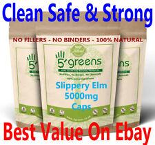Slippery Elm Bark Capsules 5000mg ( Ulmus Rubra ) 500mg 10:1 Extract Vegan